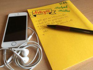 Meine Hilfsmittel für Telefoninterviews