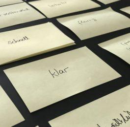 Sammlung von Begriffen während der Entwicklung einer UX-Vision